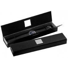 B29 Black and silver card gift box with silver metal name plate that can be printed with your logo Please Click the image for more information.