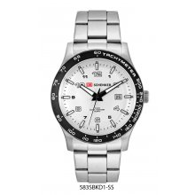 Alpine Bracelet Beautifully crafted solid stainless steel 10 ATM 100 meter water resistant 43mm case with anodised aluminium bezel S. Please Click the image for more information.