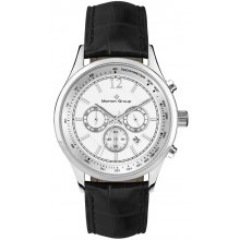 Regal Silver Chronograph Three eye Chronograph with single date Beautifully crafted solid stainless steel 5 ATM 50 meter water resistant male 42mm and female 34mm cases Ma. Please Click the image for more information.