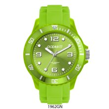 Atlantic Sports Resin case and matching rotating bezel and silicon rubber bands 40mm sized case Indexed dial with applied luminous markers P. Please Click the image for more information.
