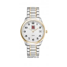 Berkley Duo Tone Bracelet Duo tone polished silver with gold plated bezel alloy dress watch Male 36mm and female 28mm cases 3 hand Seiko quartz movement with single date D. Please Click the image for more information.