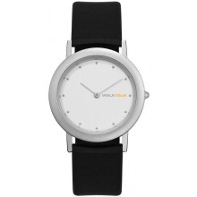 Cannes Ultra slim Dress watch in male 35mm and female 27mm sizes Matt finish silver plated 3ATM water resistant brass case . Please Click the image for more information.
