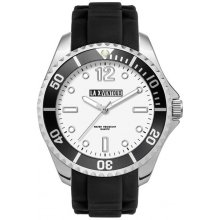 Coota Silver platted alloy cased sports watch with rotating bezel in a range of colours Bands are in silicon rubber and matched to the bezel colour . Please Click the image for more information.