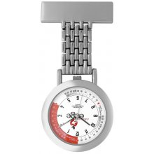 Nightingale Nurses Watch Nightingale nurses watch in polished siver plated alloy case with broach pin fitting and chain link Polished silver plated 33mm case white printed dial with heart rate calculator markers S. Please Click the image for more information.