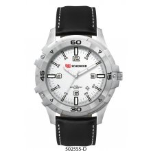 Solice Sports Silver platted alloy case with bezel 3 hand date movement Bands are in silicon rubber or natural leather  . Please Click the image for more information.