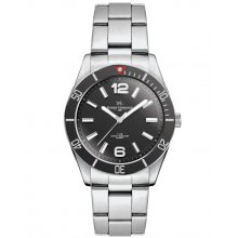 Ironwood Silver or black plated alloy sports watch in both male and female sizes Citizen 2035 3 hand movement . Please Click the image for more information.