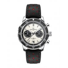 Rossi Silver plated alloy two eye Chronograph sports watch Seiko VD31 Chronograph movement Alloy 3 ATM 30 meter water resistant 42mm case Cre. Please Click the image for more information.