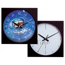 Wall Clock Sq 3 hand 255mm square wall clock with 3 hand movement Case in black or silver but other colours available Logo printed in 4 spot colours onto any colour dial with markings to your choice H. Please Click the image for more information.