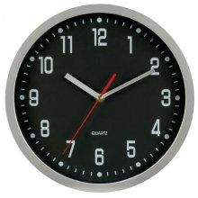 Wall Clock Aluminium Round 300mm 300mm12 round Brushed Aluminium cased wall clock with 3 hand movement Case in brushed aluminium Logo printed in 4 spot colours onto any colour dial with markings to your choice Han. Please Click the image for more information.