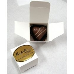 White box - 1 chocolate $2.50 Contains chocolate of your choice See The Menu Please indicate your choice in the CARD MESSAGE box which is situated at Step 2 of the order process. Please Click the image for more information.