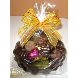 Large Seashell -12chocs with one cerise heart Dark or milk Chocolate Coquilles St Jacques seashell  Filled with 12 individual chocolates including one cerisefoiled heart  Giftw. Please Click the image for more information.