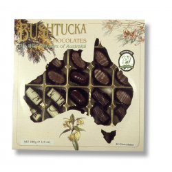 Bushtucka&#8482 Box 32 chocolates $59.00 Real native Australlian ingredients used including Kakadu plum native peppermint native aniseed wattleseed and native lemon myrtle Nati. Please Click the image for more information.