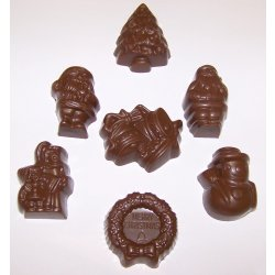 Assorted milk chocolate Christmas shapes Solid milk chocolate in seven assorted christmas shapes  Christmas bells Christmas tree Snowman Carolers Father Christmas Wreath  Santa designsNOTE Desi. Please Click the image for more information.