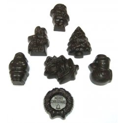 Assorted dark chocolate Christmas shapes Solid dark chocolate in seven assorted christmas shapes  Christmas tree Christmas wreath Snowman Carolers Father Christmas Chrismas bells  Santa designsNOTE Desi. Please Click the image for more information.