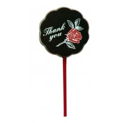 "Lollipop milk chocolate - ""Thank you"" $4.00 Solid milk chocolate with edible colour print Please Click the image for more information."
