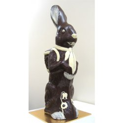 Handsome Harry Hare - dark chocolate - 620mm $165.00 Giant hollow dark chocolate bunny Hand painteddecorated with white chocolate is perfect for raffles or a big family surprise Ov. Please Click the image for more information.