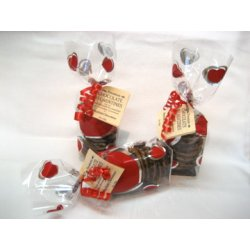 Dark Chocolate Florentines - Red Heart Pack $12.00 Australian almond and pistachio nuts with fresh cream a hint of citrus on a layer of smooth dark chocolate . Please Click the image for more information.