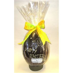 """Happy Easter"" hollow dark chocolate egg 215mm high $35.00 Dark chocolate with Happy Easter written in white chocolate Made using the same quality chocolate that we use in all our chocolatesPhoto . Please Click the image for more information."