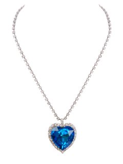 10486 NL Diamonte Chain Finishing With a Blue or Red Crystal Heart Please Click the image for more information.