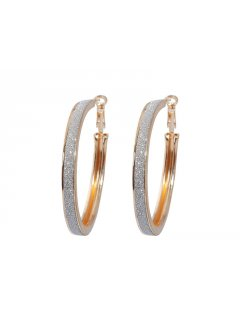 E0572 XTRA LARGE BRUSHED ALLOY HOOPS AVAILABLE IN GOLD OR SILVER Please Click the image for more information.
