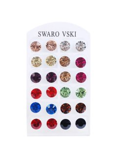 ES008 SWAROVSKI CRYSTAL EARRINGS  12 PAIRS OF 8MM EARRINGS Please Click the image for more information.