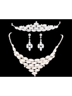 W0173 This crystal bridal set consists of Tiara Necklace  Earrings Please Click the image for more information.