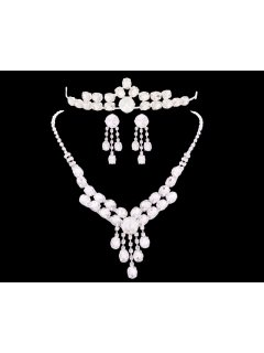 W0174 This crystal bridal set has a Tiara Necklace  Earrings Please Click the image for more information.