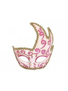 GW053 VENETIAN INSPIRED HALF FACE MASKSAVAILABLE IN BLACK PINKAQUA BLUERED OR GOLD Please Click the image for more information.