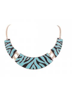 10616 ANIMAL PRINT CHOKER AVAILABLE IN BLUE BW YELLOW OR ORANGE Please Click the image for more information.