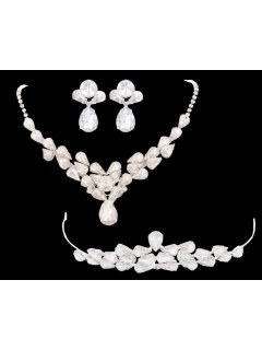 W0176 CRYSTAL BRIDAL SETCROWN NECKLACE  EARRINGS Please Click the image for more information.