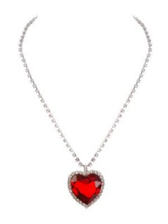 10486A RED HEART SURROUNDED BY DIAMONTES Please Click the image for more information.