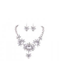 10657A CRYSTAL NECKLACE  EARRING SETALSO AVAILABLE IN BLACK DIAMOND  Please Click the image for more information.