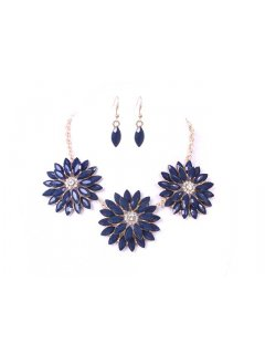 10659A FLOWER NECKLACE  EARRING SET AVAILABLE IN RED BLUE OR ORANGE Please Click the image for more information.