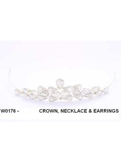 W0176 Crystal Crown Necklace and Earring Set Please Click the image for more information.