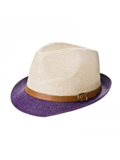 HA0202D SUMMER HATS WITH CONTRASTING BRIMAVAILABLE IN BLACK BROWN RED PINK OR PURPLE Please Click the image for more information.