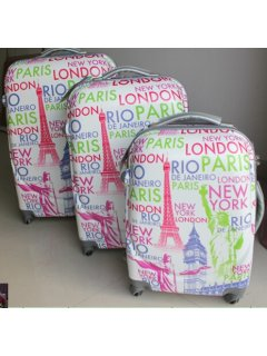 L28 PARIS LUGGAGE SET3 PCSONE ONBOARDONE MEDIUMONE LARGE Please Click the image for more information.
