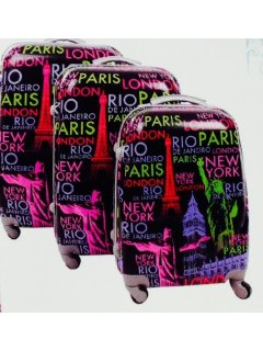 L29 BLACK PARIS LUGGAGE3 PCE SETONE ONBOARDONE MEDIUMONE LARGE Please Click the image for more information.