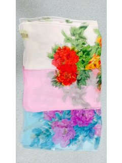 SS169B BLUE FLORAL SCARF ALSO AVAILABLE IN PINK OR WHITE Please Click the image for more information.