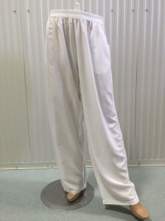 K017A WHITE RAYON PULL ON PANTS  3PCE PACK  1 X SML Please Click the image for more information.