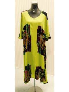 K019A CRINKLE RAYON DRESS  GREEN3PCE PACK  1 X SMLXL IS AVAILABLE SEPERATELY IF REQUIRED Please Click the image for more information.