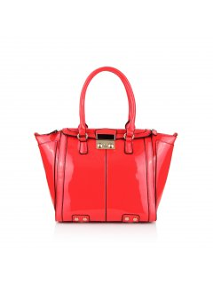 H0633A RED PATENT LEATHER HANDBAG Please Click the image for more information.