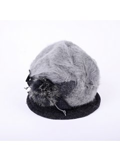 HA0217A GREY ANGORA HAT Please Click the image for more information.