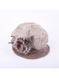HA0217B BEIGETAUPE ANGORA HAT Please Click the image for more information.