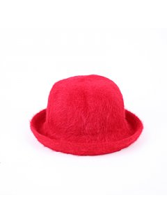 HA0218B RED ANGORA HAT Please Click the image for more information.