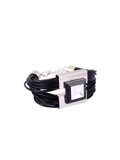B0213 BLACK LEATHER BRACELET MATCHES 10777 NECKLACE Please Click the image for more information.