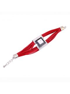 B0213C RED LEATHER BRACELETMATCHES 10777C NECKLACE Please Click the image for more information.
