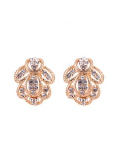 E0643 GOLD DIAMONTE CLIP ON EARRING Please Click the image for more information.