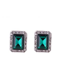 E0644C ANTIQUE SILVERGREEN CLIP ON EARRINGS Please Click the image for more information.