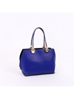 H0672B BLUE LEATHER HANDBAG Please Click the image for more information.