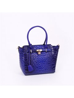 H0675A BLUE CROC LEATHER HANDBAG Please Click the image for more information.